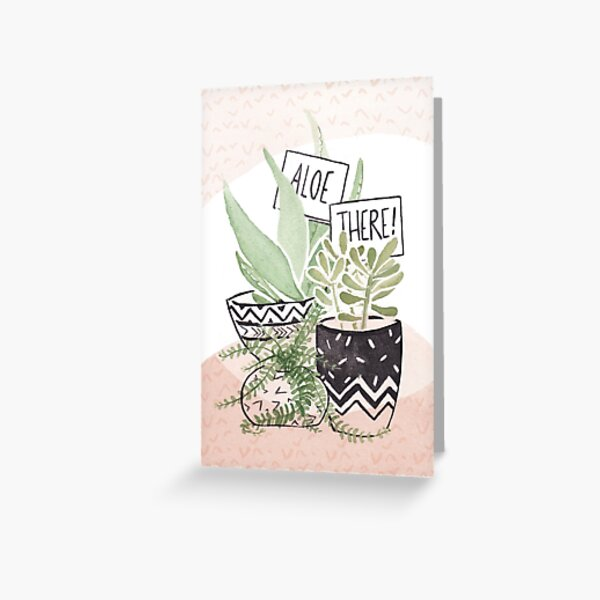 Aloe there succulent illustration Greeting Card