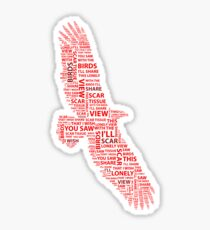 Red Hot Chili Peppers - Scar Tissue Word Cloud Sticker