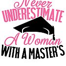 Savvy Turtle Master's Graduation Gift Design for Women with Masters Degree by SavvyTurtle