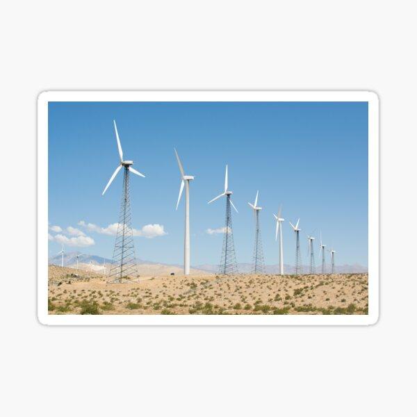 Wind Farm, Palm Springs Sticker