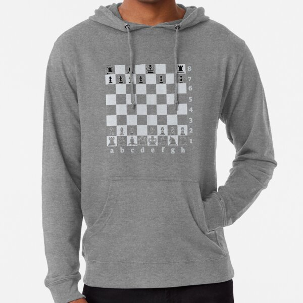 Chess, board game, strategic skill, players, checkered board, player, game, sixteen pieces Lightweight Hoodie