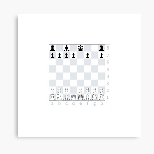 Chess, board game, strategic skill, players, checkered board, player, game,  sixteen pieces Canvas Print