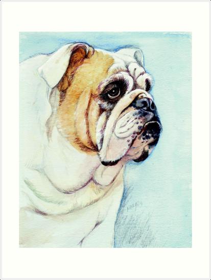 British Bulldog by morgansartworld