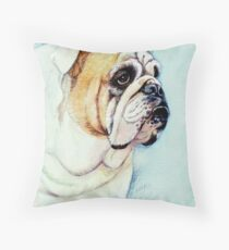 British Bulldog Throw Pillow