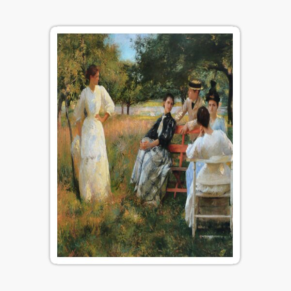 In the Orchard-Edmund Charles Tarbell Sticker