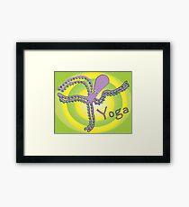 Octopus doing Yoga - Cosmic Dancer Framed Print