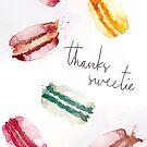 Macaroon thank you card by StefLau
