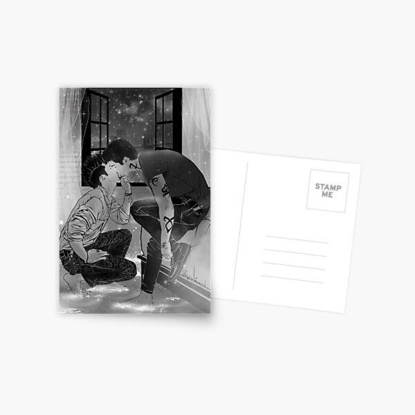 Malec kiss. Postcard