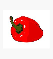 Red bell pepper Photographic Print