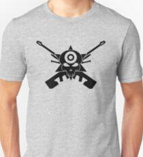 Halo Sniper Rifle Cross and Headshot Medal Unisex T-Shirt