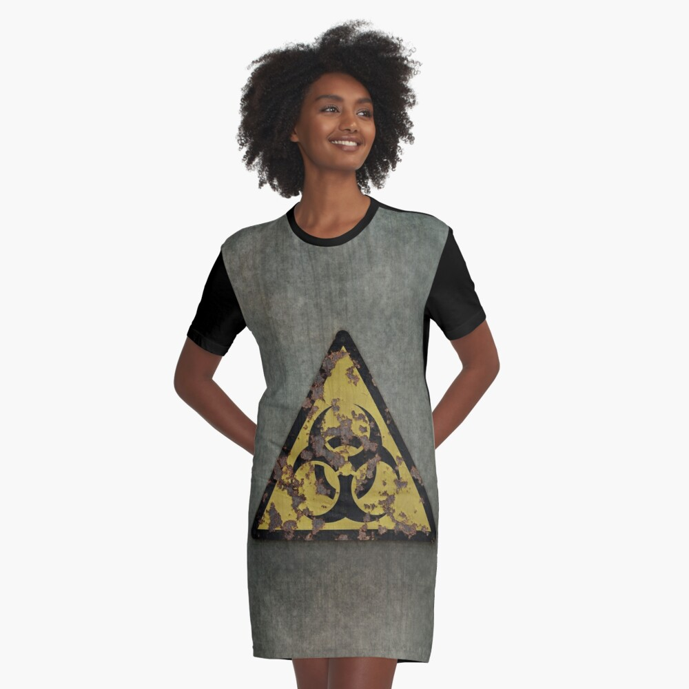 Biohazard Graphic T-Shirt Dress
