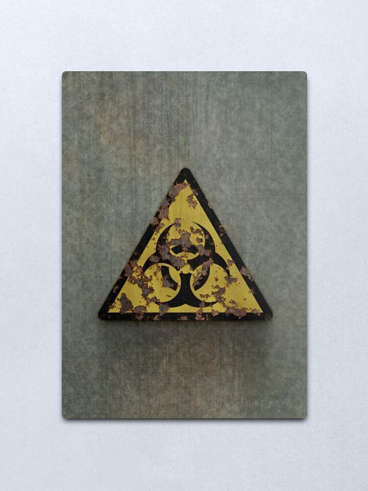 Alternate view of Biohazard Metal Print