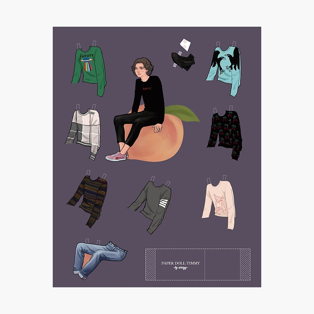 paper doll - Timothée Chalamet[PLZ READ THE NOTES] Photographic Print
