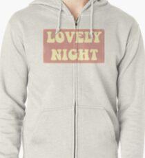 Lovely Night Zipped Hoodie