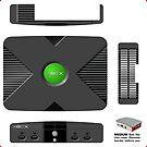 X-BOX, Raspberry Pi3 Official Case **GET MEDIUM SIZE** by ChoccyHobNob