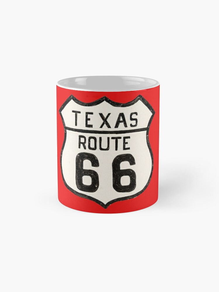 Alternate view of Texas US 66 Sign - Route 66 Mugs