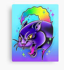 Rainbow Panther  Metal Print