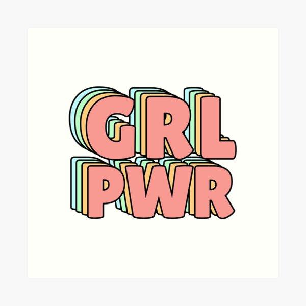 GRL PWR Pastel Art Print
