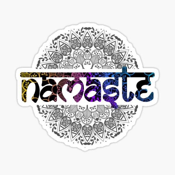 Namaste stickers YinYang Hindu Ornament  Sticker