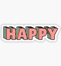 Pegatina Happy Pastel