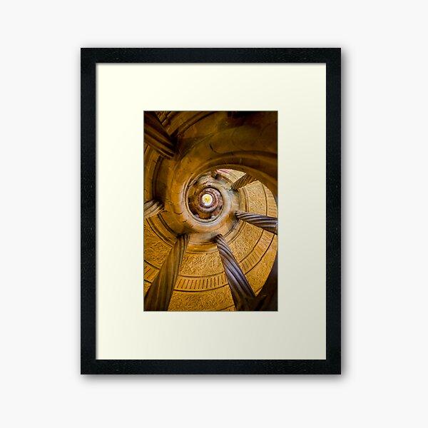 Spiral Staircase Badmerganthiem Germany Framed Art Print