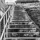 Stair by the beach hut by Joe Gillbanks