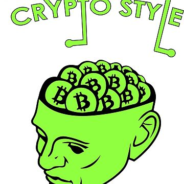 Crypto Style bitcoin cryptocurrency opportunity alien green blockchain money monster  by domskalis