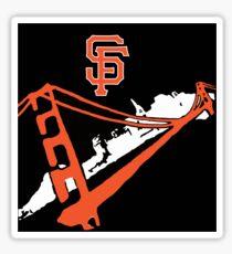 San Francisco Giants Stencil Black Background Sticker
