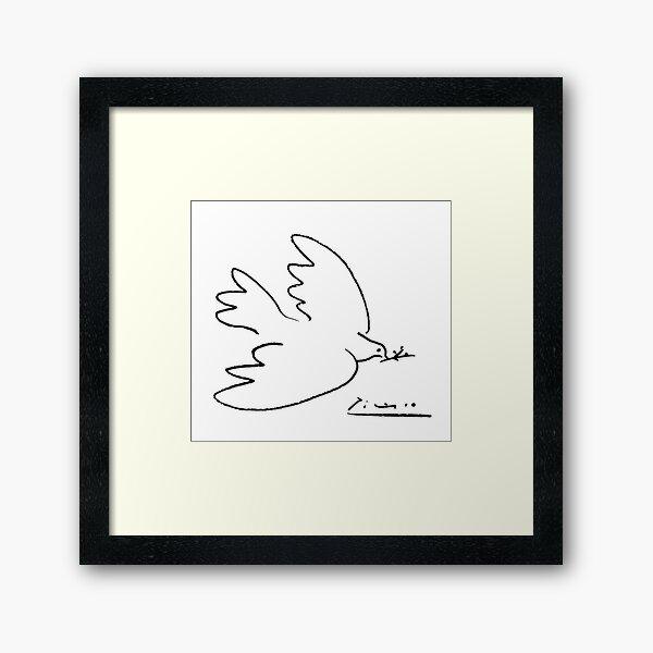 Picasso Peace Dove Framed Art Print