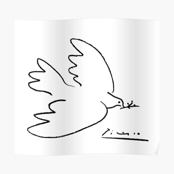 Picasso Peace Dove Poster