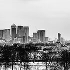 London in snow by Joe Gillbanks