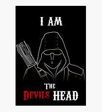 I am the Devils Head Photographic Print
