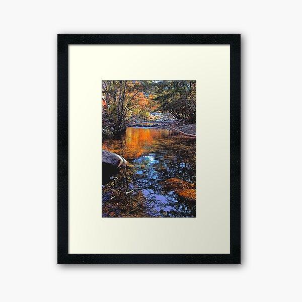 Big Rock Fall Framed Art Print