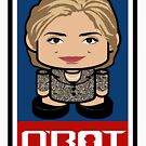 Hillary Politico'bot Toy Robot 2.0 by Carbon-Fibre Media