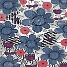 Whimsical Folk Art Pattern  by Amanda Gatton