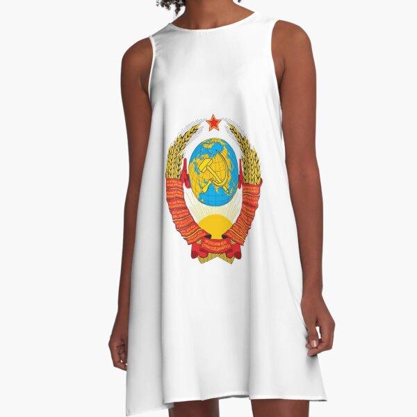 Герб СССР - The USSR coat of arms A-Line Dress