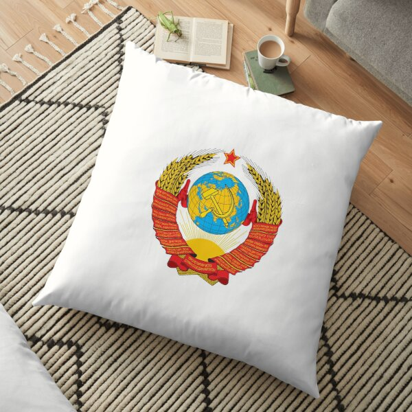 Герб СССР - The USSR coat of arms Floor Pillow