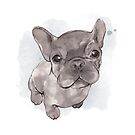 Frenchie painting by StefLau