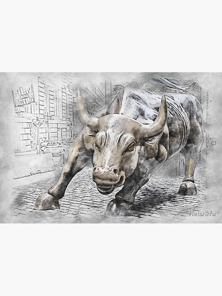 Bulle wütend Börse von Netsrikfa