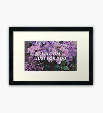 Troye | BLOOM Framed Print