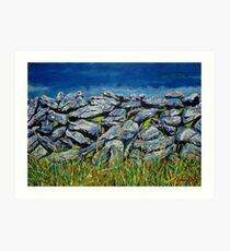Burren Wall, County Clare, Ireland Art Print
