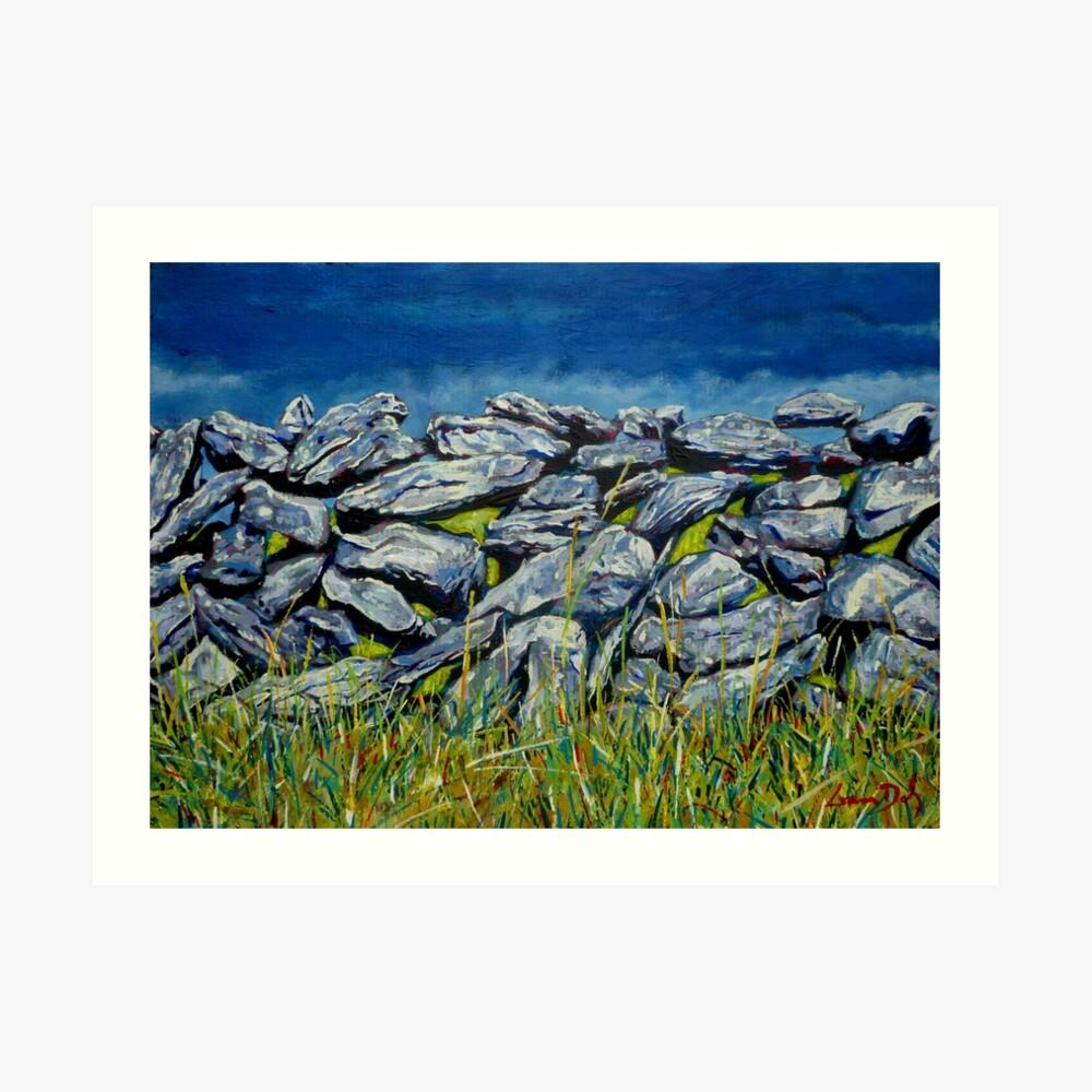 Burren Wall, Grafschaft Clare, Irland Kunstdruck