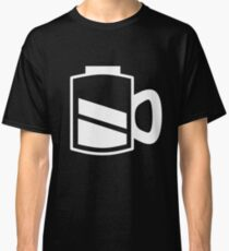 Coffee Recharge - White Print Classic T-Shirt