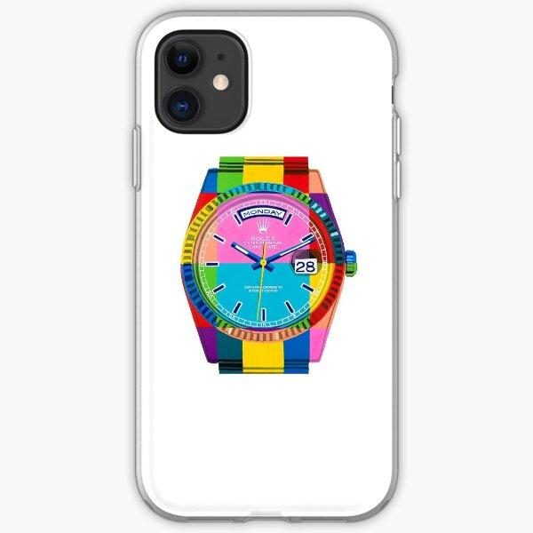 Rolex Day Date Rainbow iPhone Soft Case