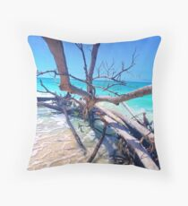 Tides going out Throw Pillow