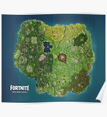 Fortnite Ultra HD 4k Map Season 4 Poster