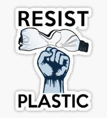 Resist Kunststoffverschmutzung Sticker