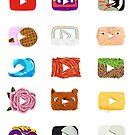 youtube logos by kathumphrey