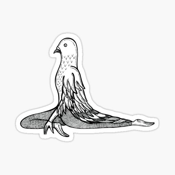 Pigeon Pose / Kapotasana Sticker