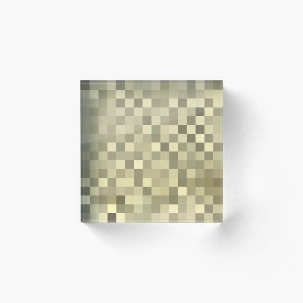 Pattern, design, tracery, weave, drawing, figure, picture, illustration Acrylic Block